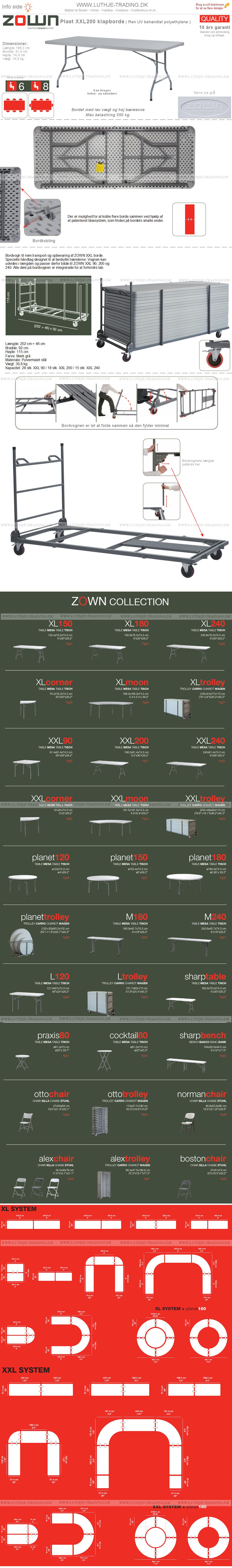 ZOWN XXL200  200 x 91 cm.